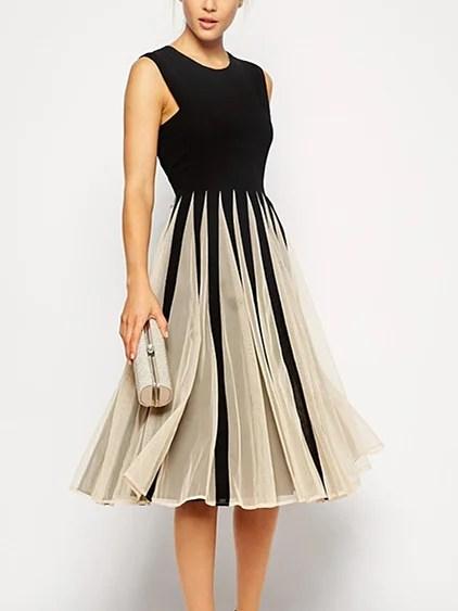Stylewe Plus Size Midi Dress A-line Daytime Dress ...