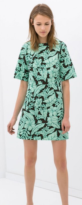 Zara Palm print dress
