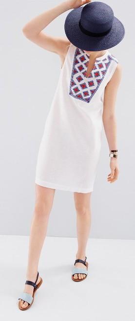 J Crew Sleevless white dress. $128