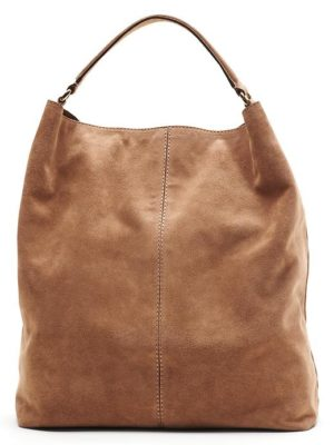 banana republic revamps brand -brown-italian suede hobo bag $188