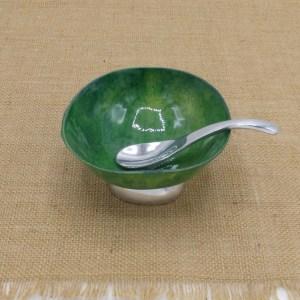 Shellacked Calabash Bowl (Green)