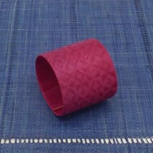 Woven Fiber Cuff (Fuschia)