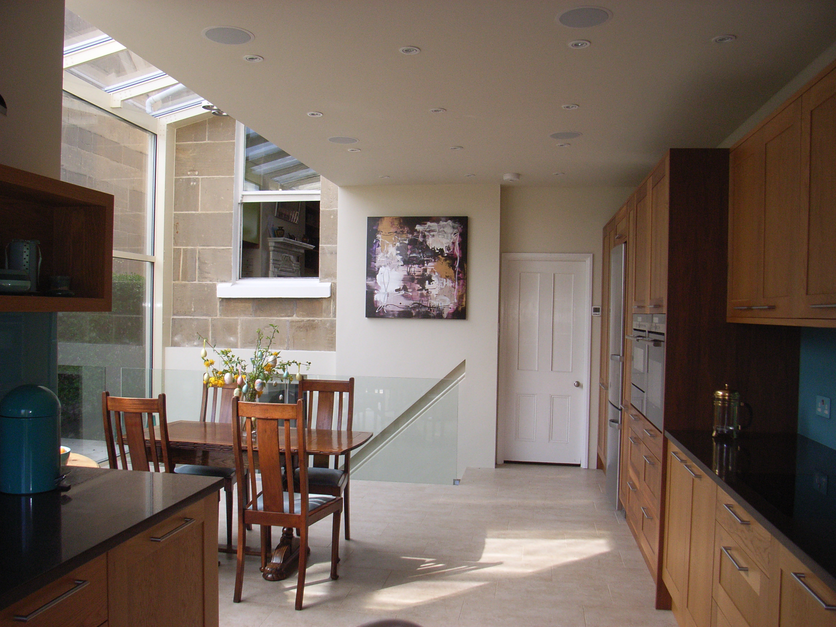 Glass Extension And Basement Conversion In Bath Style Within