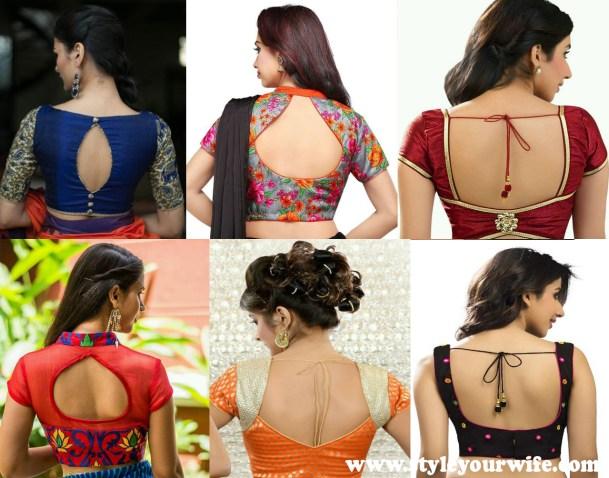 Back Neck Blouse Designs Photos (3)