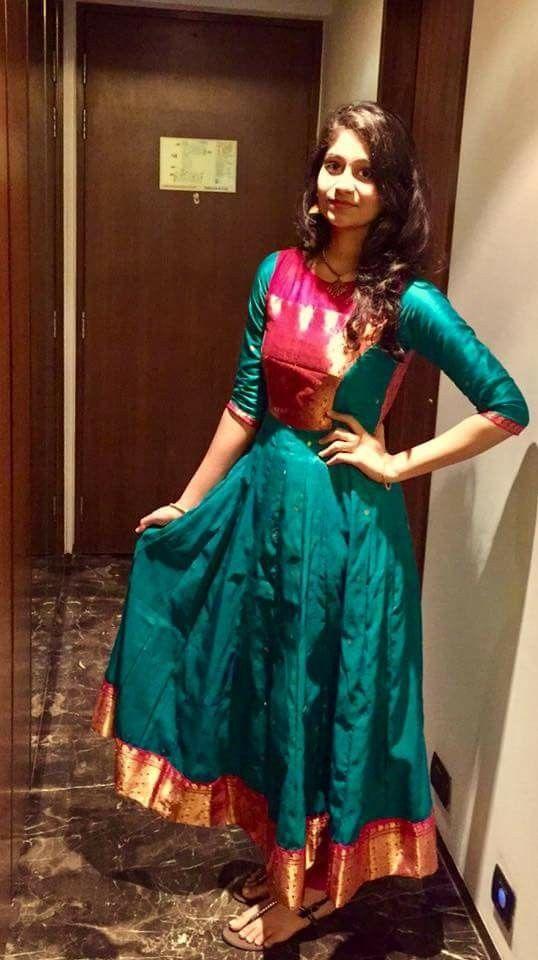 Middle slit kurtis from old sarees