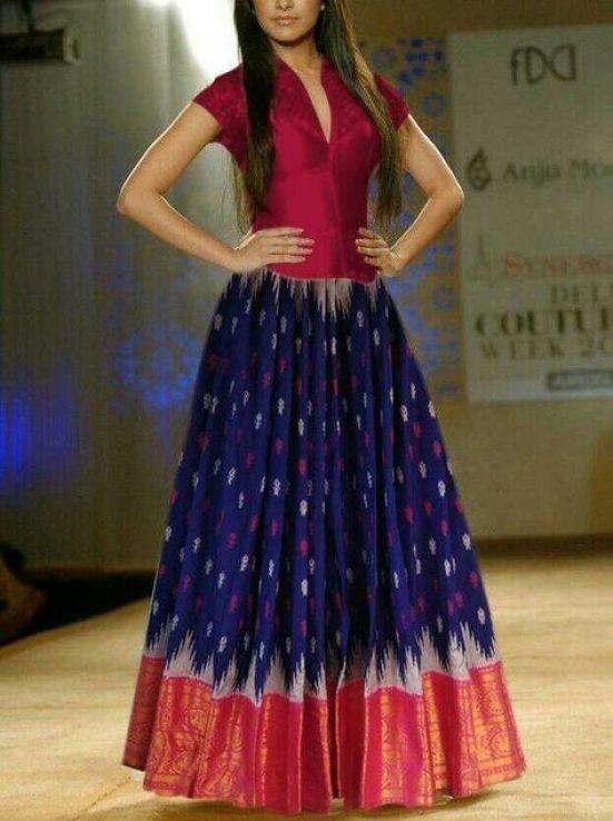 Kurti from old saree designs
