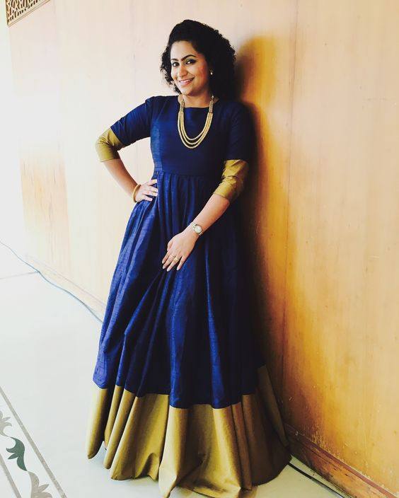 Salwar suits from old sarees with border in the middle
