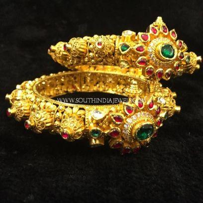 Gold Kappu style bangle