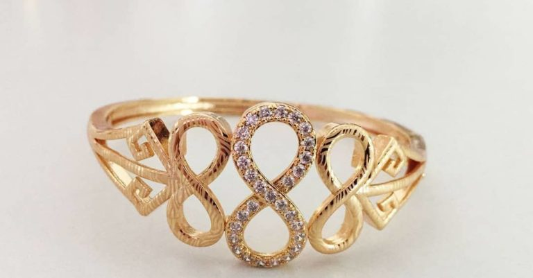 infinity gold plated ring
