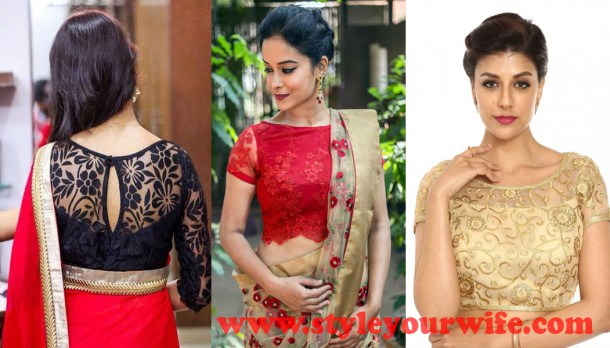 Laced Fabric blouse designs photos