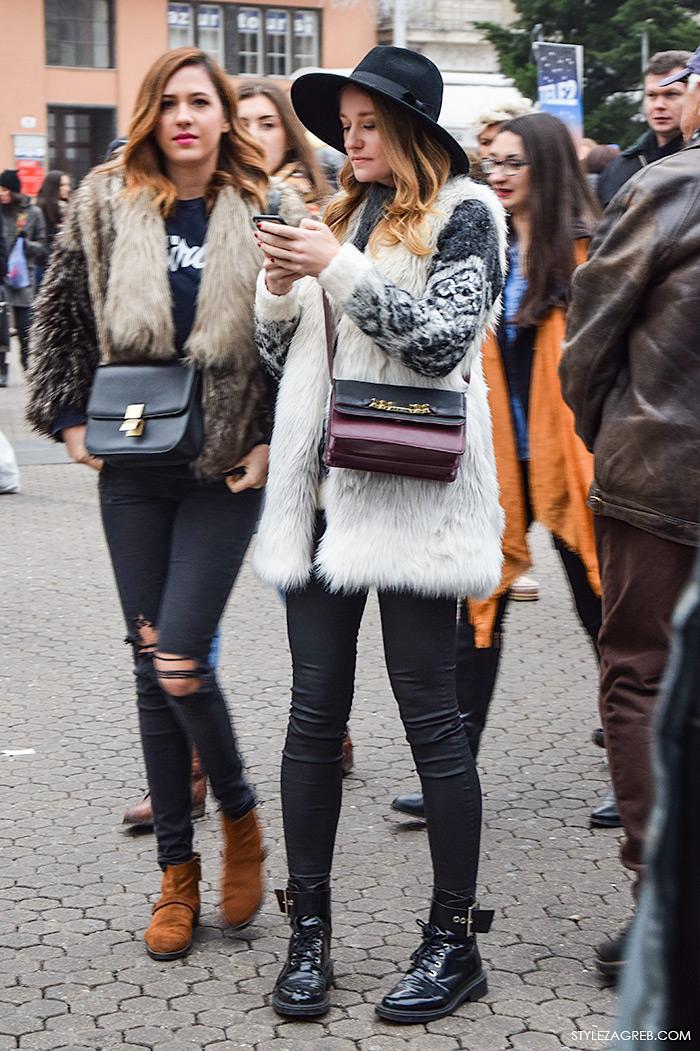 Moda street style Zagreb: kako stilizirati krzneni prsluk by StyleZagreb.com