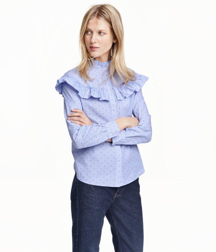 Kako nositi košulje s volanima, MODA - IDEJE ZA STAJLING: H&M bluza košulja s volanima a la Miu Miy, kako nositi, ideje za dnevni stajling