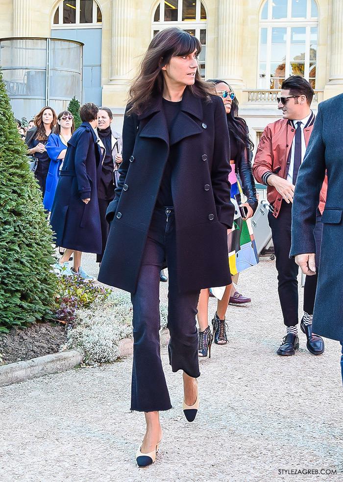 Kako nositi mornarski kaput Emmanuelle Alt street style ulična moda by Stylezagreb com
