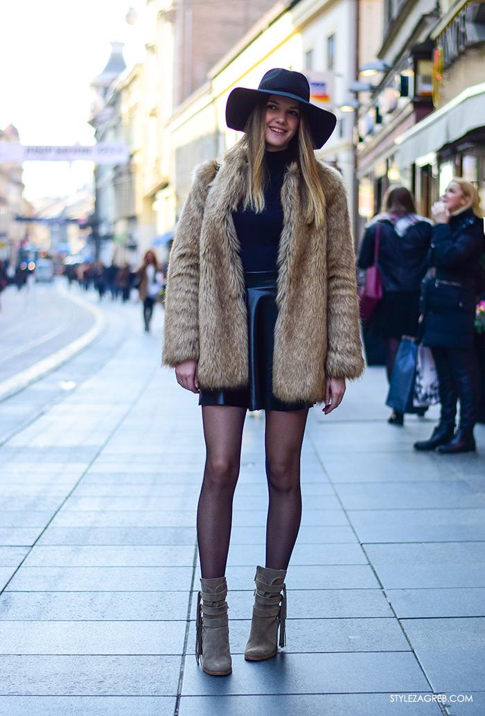 Kako kombinirati bundicu i čizme do gležnja, Zagreb street style ulična moda, subota špica, Jelena Tutavac, studentica matematike