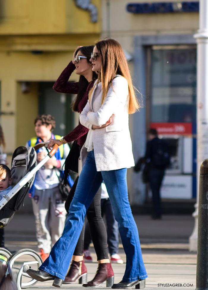 sportski sako bijele hlače, Moda kako nositi bijeli sako i traperice, Zagreb street style Instagram žena moda fashion hr zagrebačka špica modne kombinacije