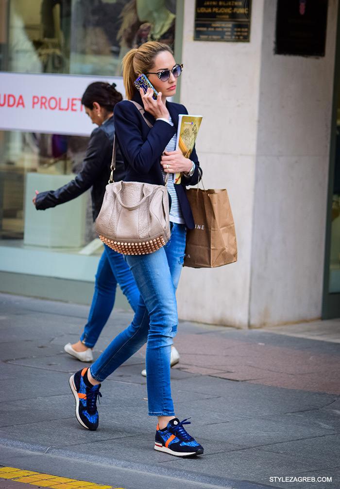 kako nositi dizajnerske tenisice, Alexander Wang torbu sa zakovicama i moderne sunčane naočale, stylish vlasnica Oranž bara cro moda street style zagreb žena ulična moda proljeće fashion hr zagrebačka špica modne kombinacije trend portal zena hr
