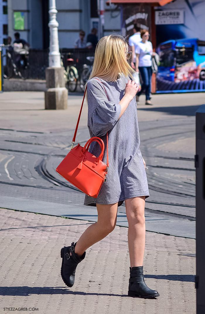 proljetna ulična moda Zagreb street style, trenid outfit