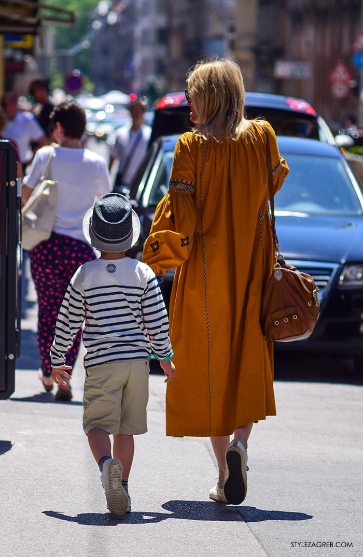 street style Zagreb, ulična ženska moda lipanj 2016, stylish mama i sin