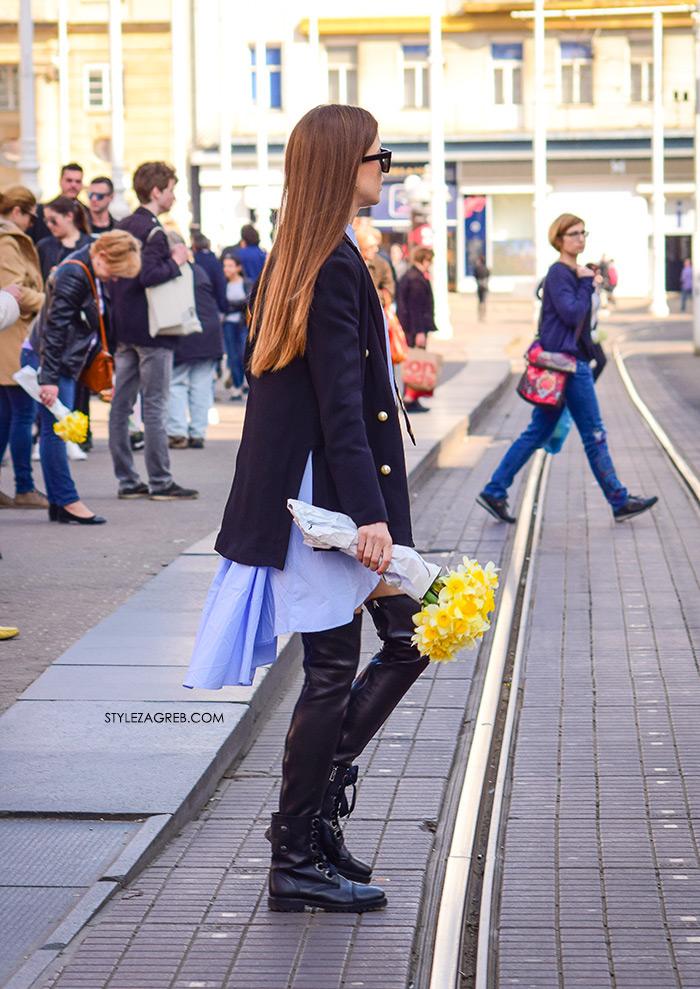 Milica Mihajlović Instagram, Košulja-haljina: novi val u dnevnom odijevanju, street style Zagreb, kako kombinirati kosulja-haljina, kozna minica