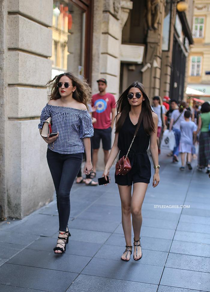 Street style Zagreb: Što se na početku lipnja nosi u Zagrebu... | Style Zagreb, proljetna ženska moda, kombinezon, bluza golih ramena