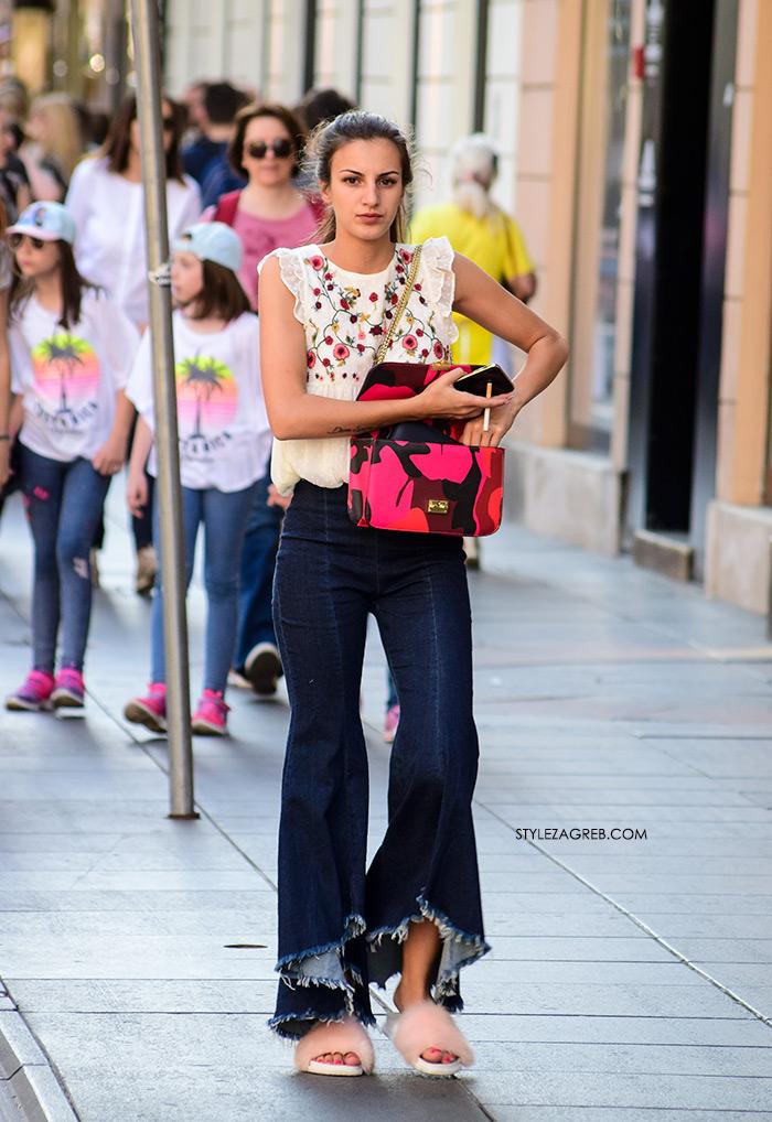 Zvonolike traperice: Hit model ljetnih hlača koji ili voliš ili se groziš   Style Zagreb, ekstremne zvonolike traperice stajling špica zagreb ilica zara model hlača