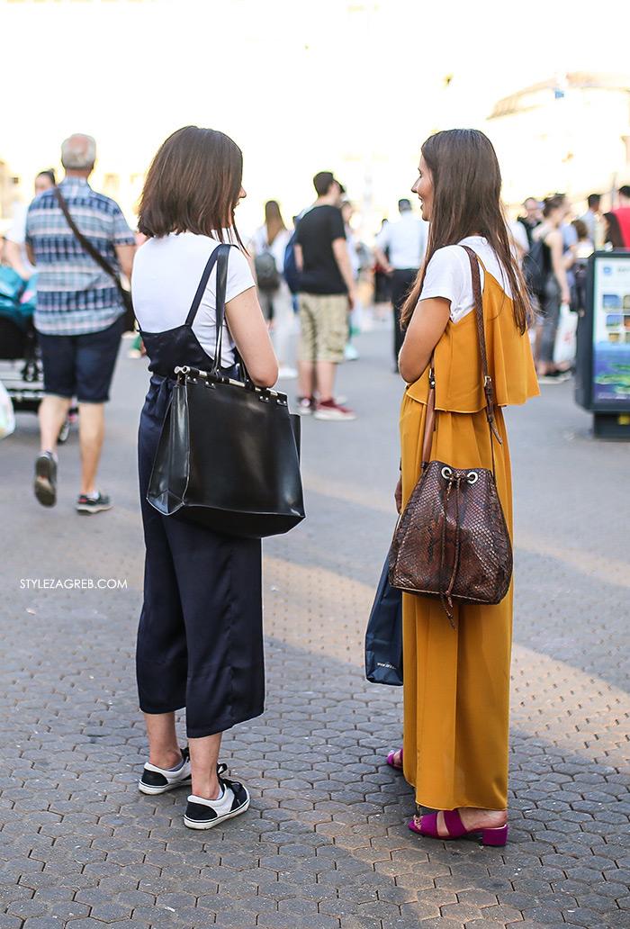 street style zagreb špica ljetna moda culottes kombinezon, žuta maksi haljina