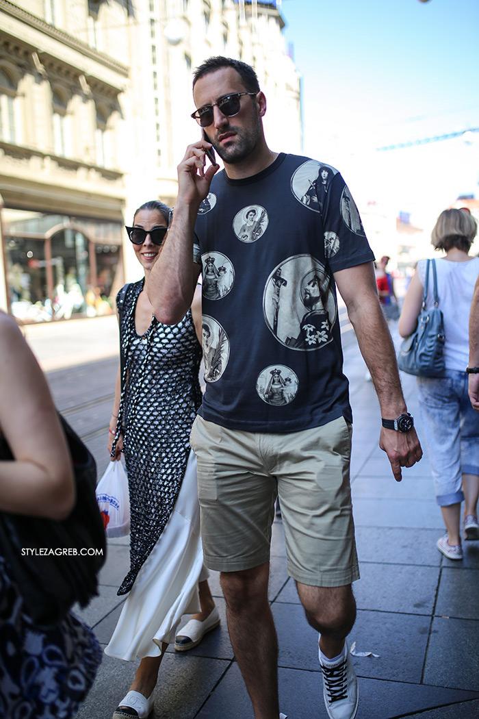 muška moda ljeto t-shirt majice bijele tenisice street style Zagreb stylezagreb Muška moda: Ljetno izdanje - Mate Rimac i Igor Vori