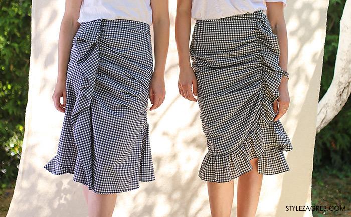 Sisters Jo moda by Style Zagreb, Slavica Josipović, Ana Josipović, gingham suknja