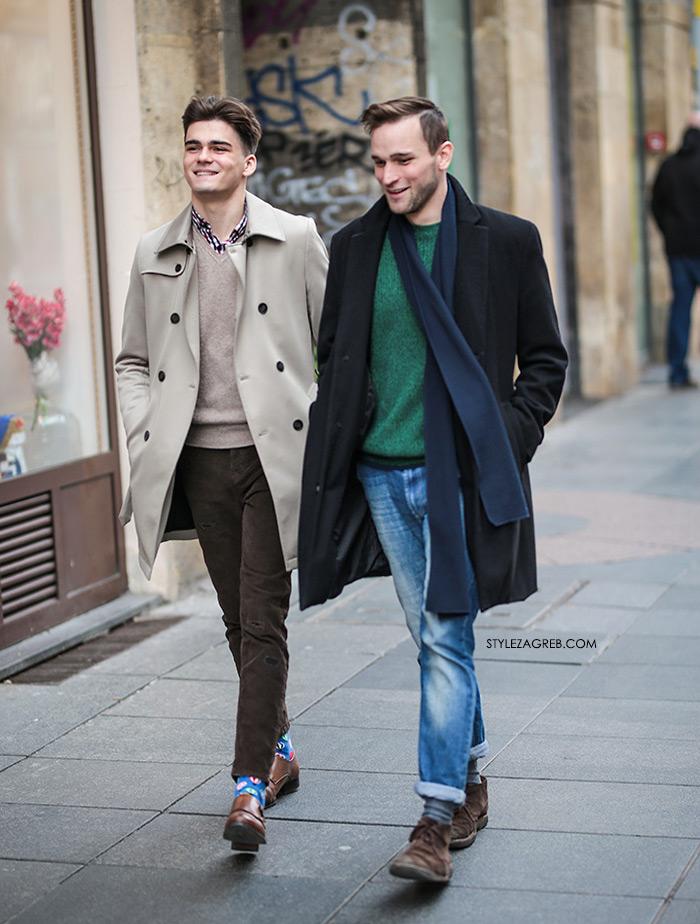 Mario Mikelić i Filip Sedlar INSTAGRAM street style Zagreb muška moda elegantni kaputi