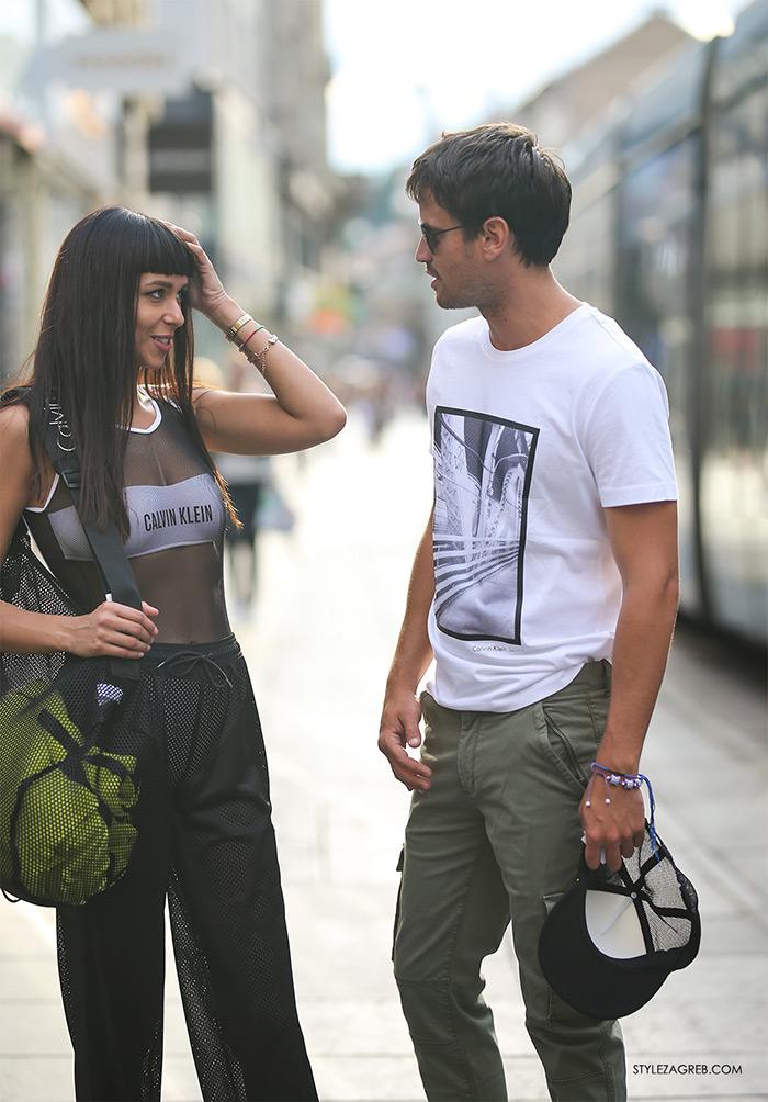 Calvin Klein Jeans sniženja mrežasti kupaći kostim Tija Malik i Jakov Kamber