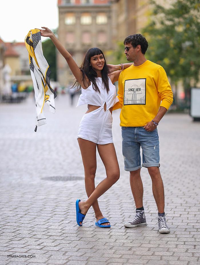 Calvin Klein Jeans sniženja bijeli kombinezon Tija Malik i Jakov Kamber traper bermude