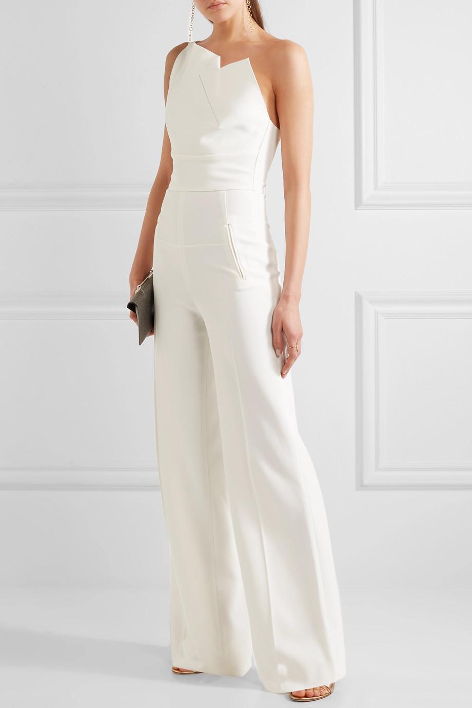 bijeli svečani kombinezon za vjenčanja Roland Mouret