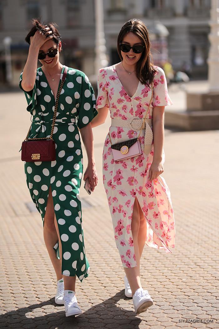 lepršave proljetne haljine Asos Zara Chanel tobe Fendi bijele adidas tenisice