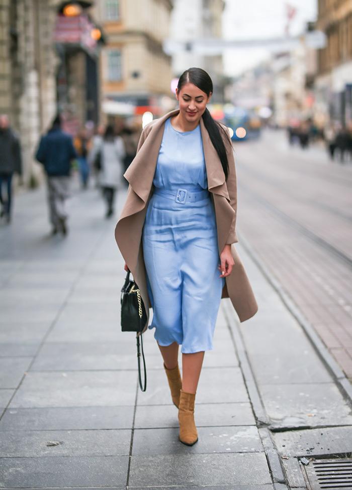 satenska haljina street style zagreb Ivana Bubuć Instagram zagreb moda