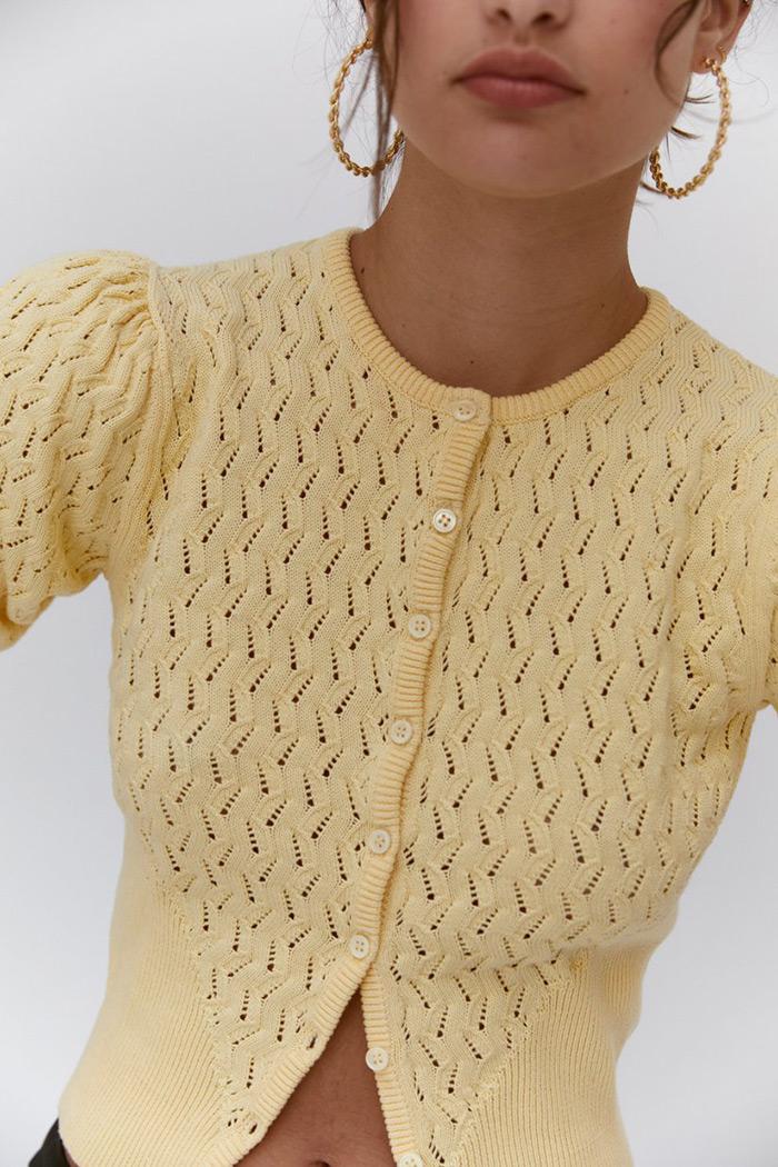 kratki kardigan cropped cardigan proljetna zenska moda Musier Paris