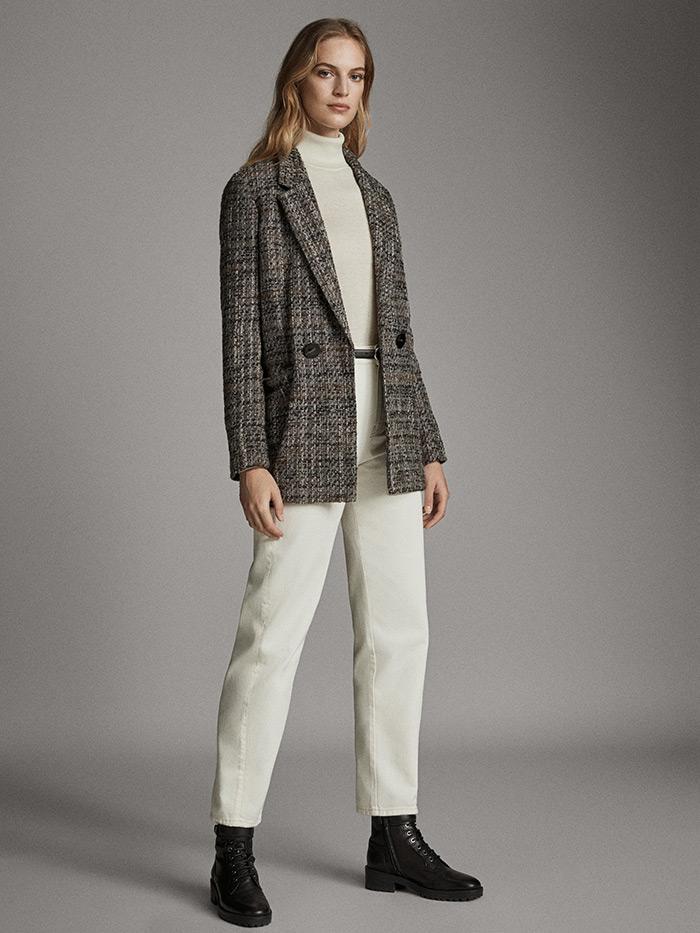 massimo dutti što odjenuti na posao poslovni look bijele hlače i bijela dolčevita sivi sako style zagreb