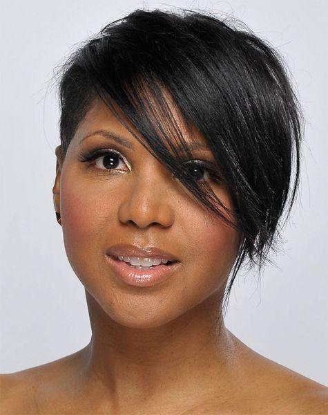 Black women Sassy razor cut pixie