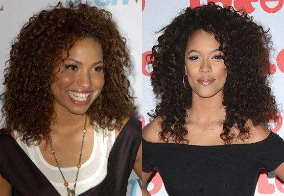 Corkscrew curls for black women