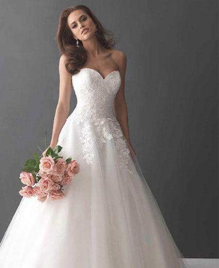 Netted dress for wedding