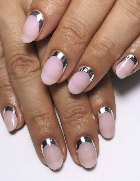 Fresh Silver Cuffs Nail Art Designs