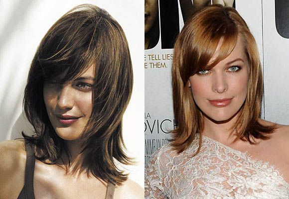 Sleek Layered flip out Medium Hairstyles