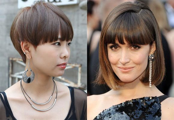 blunt edges short-fringed bob haircut