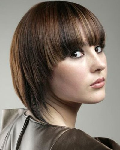 short bob with funky colors