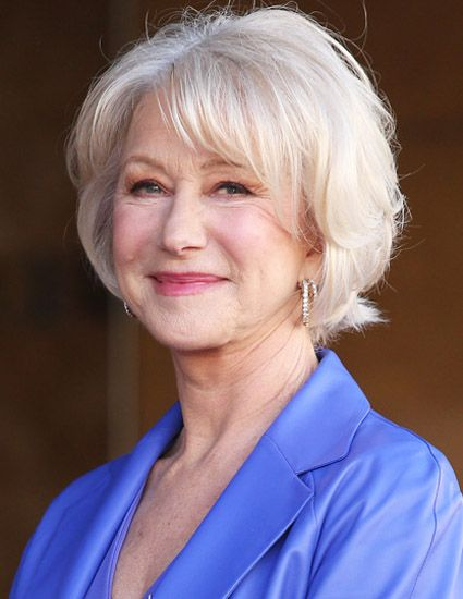 Cropped bob haircuts for women over 60