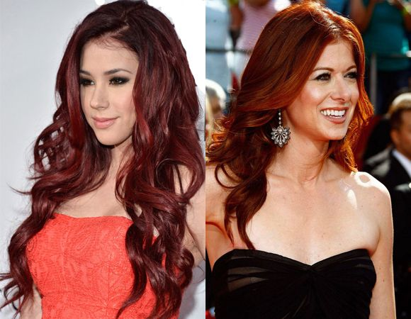 Red fall Hairstyle for Women