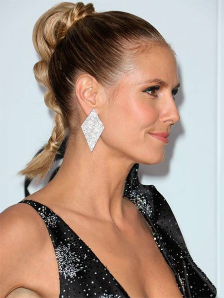 twisted crown sleek high ponytail