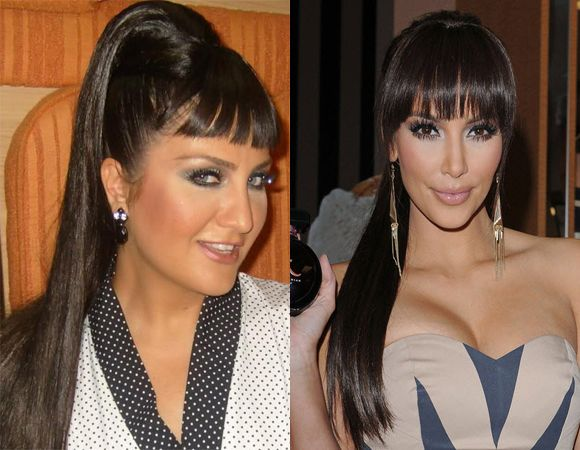 Blunt Bangs with Sleek Ponytail
