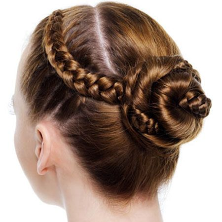 French braids and buns hairstyles