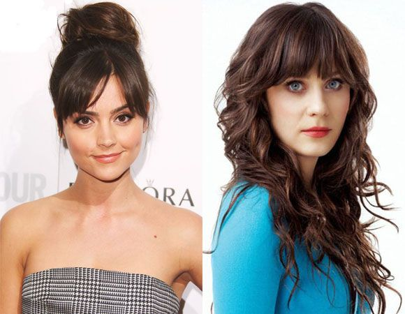 Fringes and top knot thick hairstyles