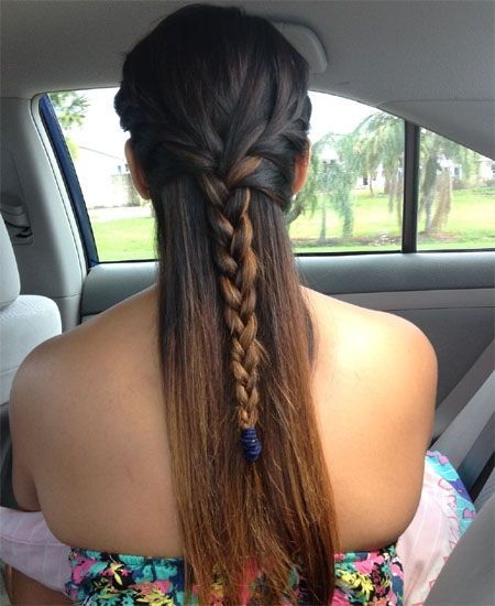 Half up French braided hairstyles